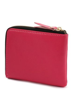 Unisex Plain Leather Long Wallet  Small Wallet Coin Cases