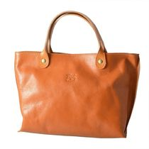 IL BISONTE Casual Style Plain Leather Office Style Formal Style