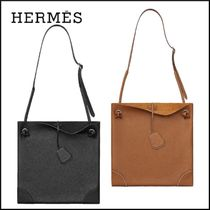 HERMES Casual Style Leather Crossbody Shoulder Bags