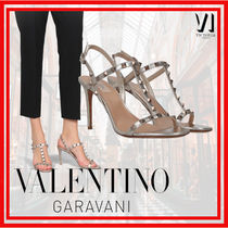 VALENTINO Studded Leather Heeled Sandals