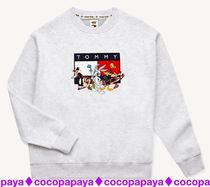 Tommy Hilfiger Crew Neck Pullovers Unisex Street Style Collaboration
