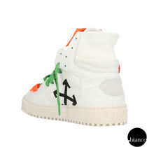 Off-White OFF COURT Round Toe Rubber Sole Lace-up Casual Style Street Style Logo