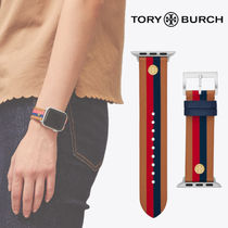 Tory Burch Casual Style Leather Office Style Apple Watch Belt Watches