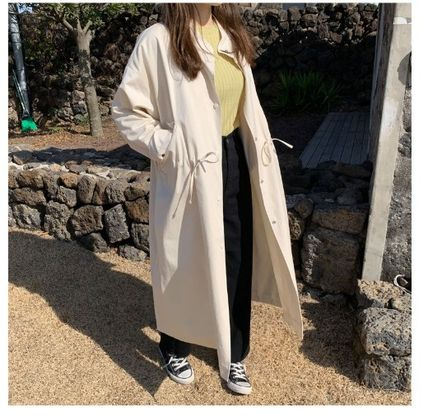 Stand Collar Coats Casual Style Street Style Plain Long
