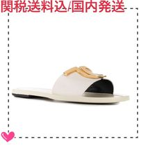TOM FORD Open Toe Casual Style Plain Leather Logo Sandals Sandal