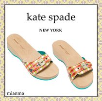 kate spade new york Other Plaid Patterns Round Toe Casual Style Block Heels