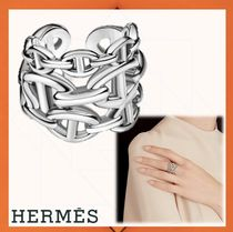 HERMES Party Style Silver Rings