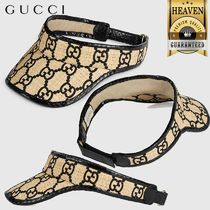 GUCCI Gg Visor With Snakeskin