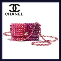 CHANEL Casual Style Chain Party Style Elegant Style Crossbody