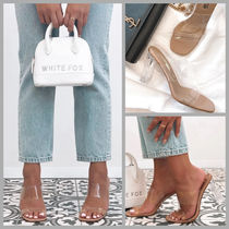 WHITE FOX Open Toe Casual Style Plain Heeled Sandals