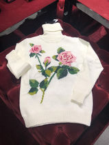 Dolce & Gabbana Short Flower Patterns Casual Style Wool Long Sleeves