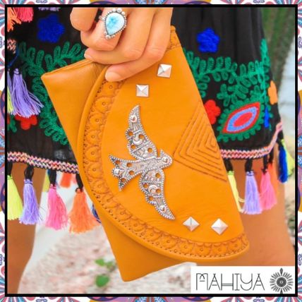 Studded Other Animal Patterns Leather Handmade