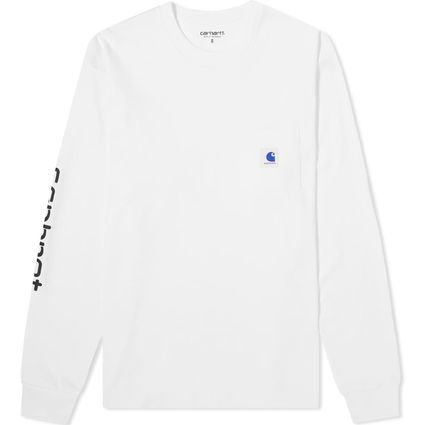 Carhartt Long Sleeve Crew Neck Street Style Collaboration Long Sleeves Plain 2