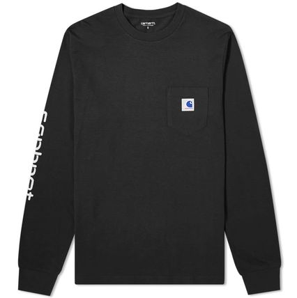 Carhartt Long Sleeve Crew Neck Street Style Collaboration Long Sleeves Plain 7