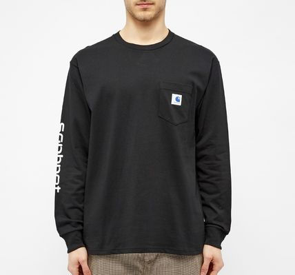 Carhartt Long Sleeve Crew Neck Street Style Collaboration Long Sleeves Plain 10