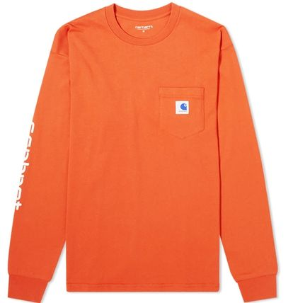 Carhartt Long Sleeve Crew Neck Street Style Collaboration Long Sleeves Plain 11