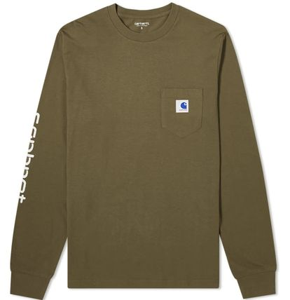 Carhartt Long Sleeve Crew Neck Street Style Collaboration Long Sleeves Plain 14