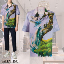 VALENTINO Street Style Cotton Short Sleeves Shirts