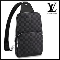 Louis Vuitton Other Plaid Patterns Street Style Leather Crossbody Bag Logo