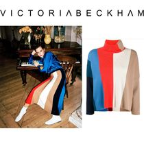 Victoria Beckham Stripes Office Style Elegant Style Turtlenecks