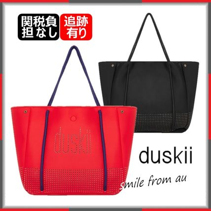 Casual Style Street Style A4 Plain Office Style Logo Totes