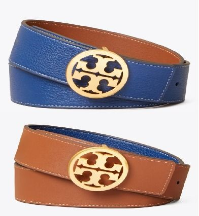 Tory Burch Plain Leather Office Style Formal Style  Logo Belts