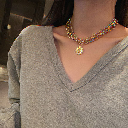 Casual Style Coin Street Style Chain Necklaces & Pendants
