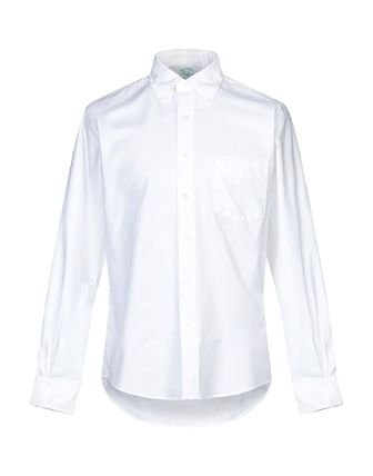 Button-down Street Style Long Sleeves Plain Cotton Shirts