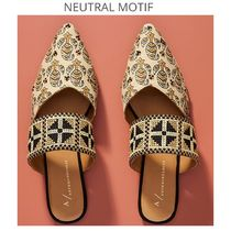 Anthropologie Casual Style Leather Elegant Style Sandals