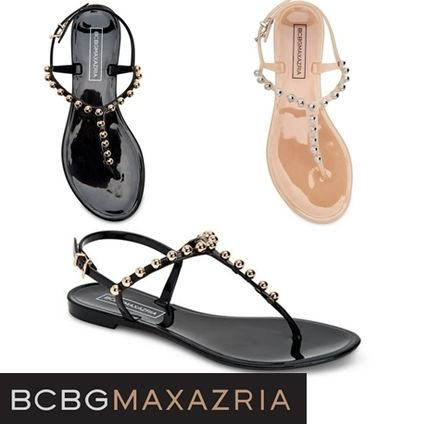Round Toe Casual Style Plain Shower Shoes With Jewels