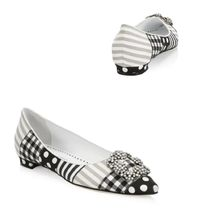 Manolo Blahnik Hangisi Casual Style Leather Party Style With Jewels Elegant Style