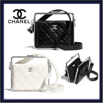 CHANEL Casual Style Lambskin 3WAY Plain Leather Party Style