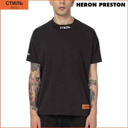 Heron Preston More T-Shirts Street Style Cotton Short Sleeves Oversized Logo T-Shirts 10