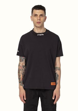 Heron Preston More T-Shirts Street Style Cotton Short Sleeves Oversized Logo T-Shirts 4