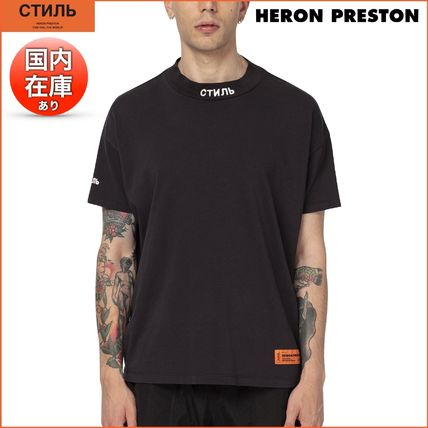 Heron Preston More T-Shirts Street Style Cotton Short Sleeves Oversized Logo T-Shirts