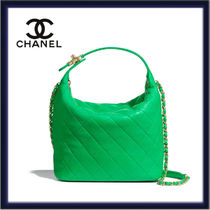CHANEL Casual Style Lambskin 3WAY Chain Plain Leather Party Style
