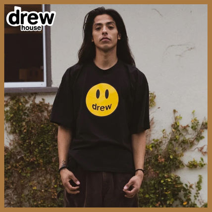drew house Crew Neck Crew Neck Street Style Plain Short Sleeves Logo 3
