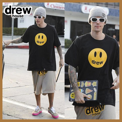 drew house Crew Neck Crew Neck Street Style Plain Short Sleeves Logo 2