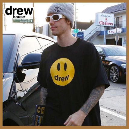 drew house Crew Neck Crew Neck Street Style Plain Short Sleeves Logo