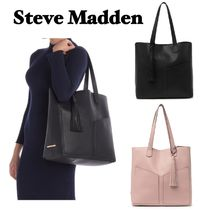 Steve Madden A4 Plain Office Style Elegant Style Formal Style  Totes