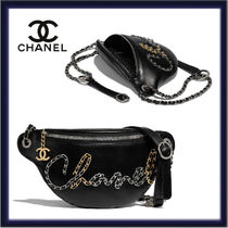 CHANEL Casual Style Calfskin Blended Fabrics 2WAY Chain Plain