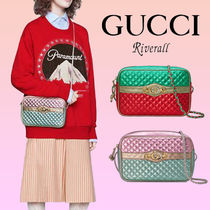 GUCCI Stripes Tropical Patterns Casual Style Bag in Bag Bi-color