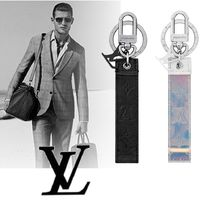 Louis Vuitton Unisex Leather Logo Keychains & Holders