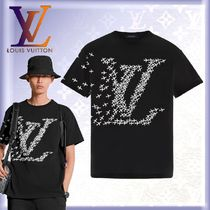 Louis Vuitton Crew Neck Unisex Street Style U-Neck Cotton Short Sleeves