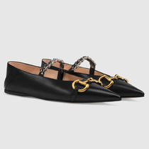 GUCCI Chain Plain Leather Party Style Elegant Style Formal Style