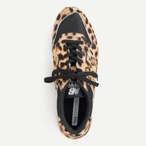 J Crew Leopard Patterns Round Toe Rubber Sole Casual Style