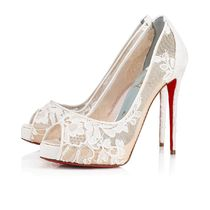 Christian Louboutin Open Toe Platform Casual Style Pin Heels Party Style