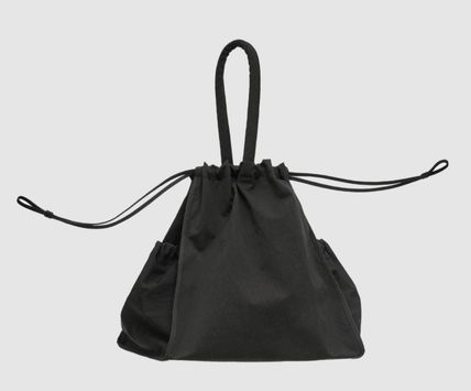 Casual Style Plain Purses Logo Bucket Bags