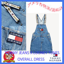 Tommy Hilfiger Short Casual Style Denim Street Style Collaboration
