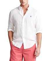 Ralph Lauren Button-down Unisex Street Style Long Sleeves Plain Cotton